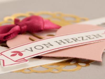 Let's make a card - Muttertagskarte mit Blüten der Liebe - Stampin' Up!