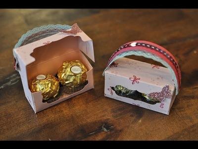 Mini-Handtasche für 2 Ferrero Rocher mit Produkten von Stampin' Up!