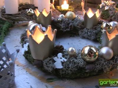 Feenhafte Adventskränze mit Moosen und Flechten   Weihnachten mit Sabine Reber