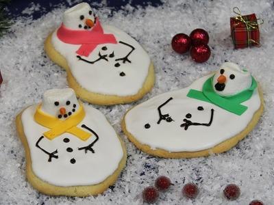 Melted Snowman Cookies. geschmolzene Schneemann Kekse