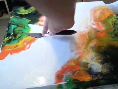 Abstrakte Acrylmalerei cut