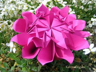 Origami ❀ Crane Flower ❀