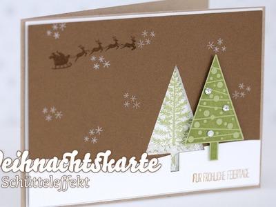 Stampin' Up! - Weihnachtskarte - Schüttelkarte