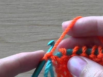 Knooking linke Maschen für Linkshänder