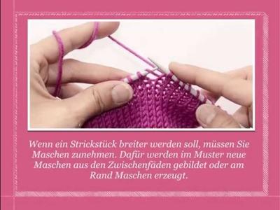Rechte Maschen zunehmen | Strickenlernen.ch