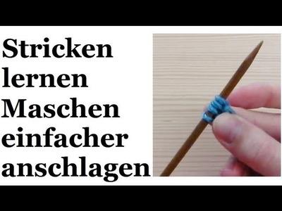 Stricken lernen - vereinfachter Maschenanschlag für Linkshänder
