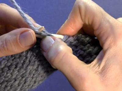 Tutorial zu den Grundtechniken des Strickens: Stricken links verschränkter Maschen