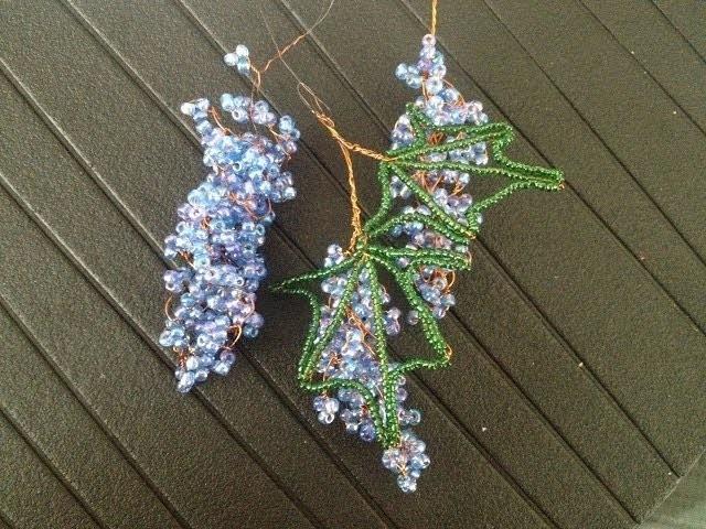 Glasperlen. Weintrauben. Teil 3.3 Beaded Grapes. Anna's Perlen.