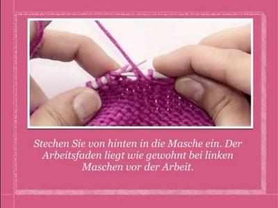 Linke Maschen zunehmen | Strickenlernen.ch