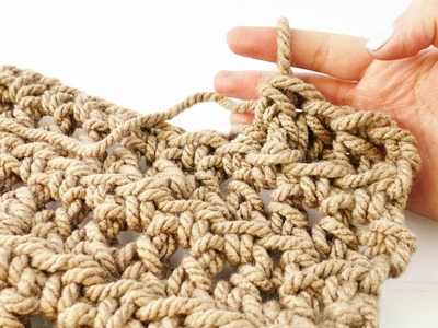 Fingerhäkeln | Einfache Methode ohne Nadel | Für lockerer Sommerschals & dicke Wolle | Anfänger