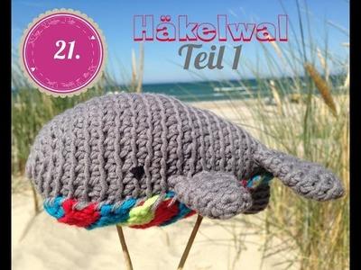 Häkelwal als Wolltier oder Nadelkissen. Teil 1. auch für Anfänger gut geeignet