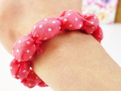 Tollen Schmuck für den Sommer selber machen | DIY Idee für den Frühling | Armband aus Stoff Resten
