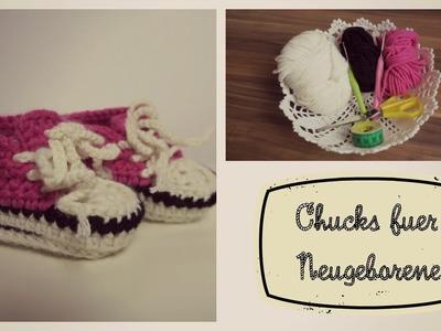 Chucks. Turnschuhe für Neugeborene| 8cm| biggihäkelt