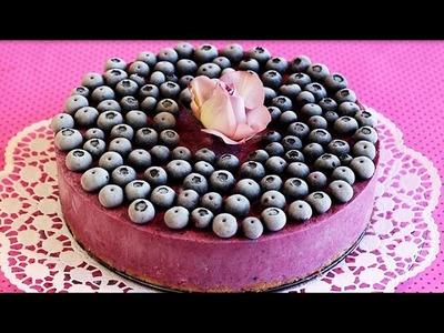 HEIDELBEER-EISTORTE | Blueberry Ice Cream Cake