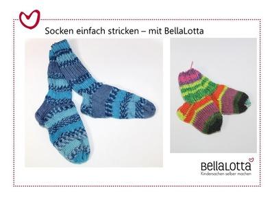 Socken einfach stricken - für Anfänger