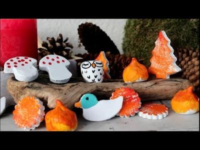 DIY: Herbstliche Deko Kleinteile aus Ton (lufttrocknend) basteln *Für Kinder*