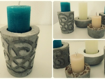 Kerzenhalter aus Beton #2 * DIY * Concrete Candle Holder [eng sub]