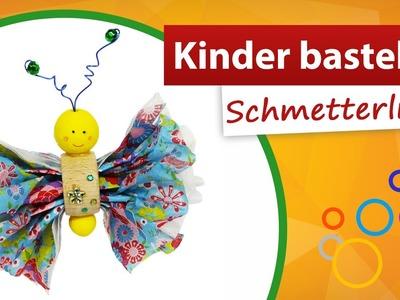 ♥ Kinderbasteln einen Schmetterling ♥ Bastelidee von trendmarkt24