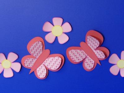 Schmetterling.butterfly,Frühling, Ostern, Basteln aus Papier, Basteln mit Kindern