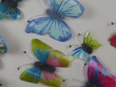 Schmetterlinge aus Plastikflaschen basteln ❁ Deko Ideen mit Flora-Shop