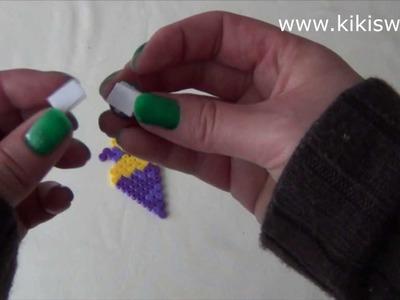 """Schulanfang: Magnet """"Schultüte"""" aus Bügelperlen"""
