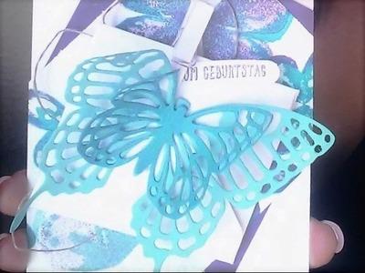 Stampin' Up! Watercolor Wings & Stanzformen Schmetterlinge  | Geburtstagskarte selber basteln