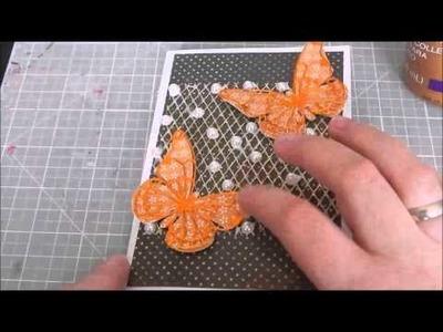 °Tutorial° Leporello Minialbum Schmetterling - Vintage