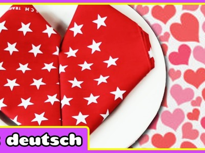 Valentinstag Sonder Herz Serviette - Valentine Day Special Heart Napkin | Selber Machen