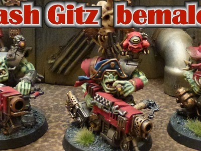 Warhammer 40K Ork Flash Gitz Posaz Bemal Tutorial für Anfänger und Fortgeschrittene mit Naßpalette