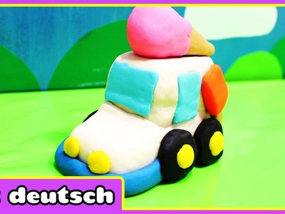 Wie Man Knete Eiswagen machen Play Doh Icecream Truck | knete play doh | HooplaKidz Deutsch