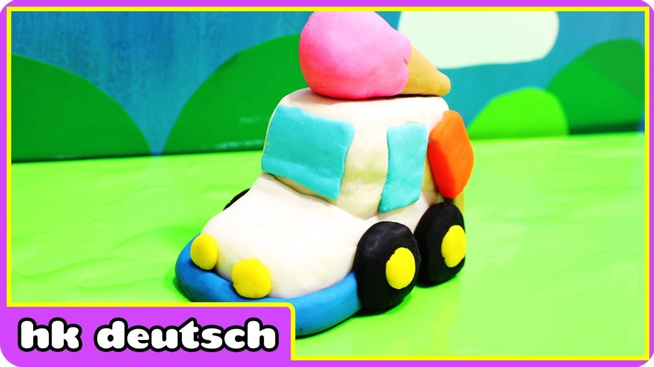Wie Man Knete Eiswagen machen Play Doh Icecream Truck | knete play doh | HooplaKidz Deutsch