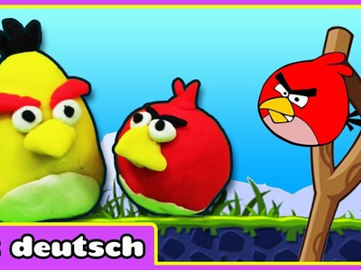 Wie Man Knete Machen How To Make Play Doh Angry Birds | Play Doh Knete Videos
