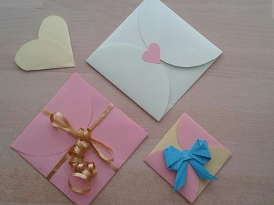Kuvert für Liebesbrief. Конвертик для валентинки