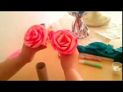 Rose basteln aus Papier - Teil 1.  Zum  Muttertag, Vatertag, Geburtstag, Freundin, Freund