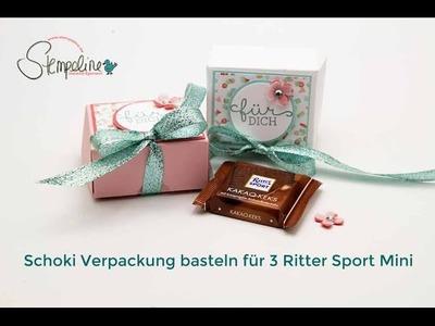 Schoki Verpackung basteln für 3 Ritter Sport Mini