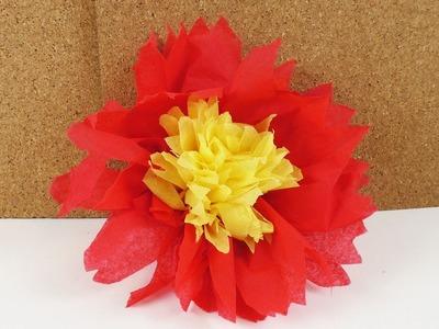 Servietten falten | Gefüllte Servietten Blume 2 Farbig | Party Dekoration | Deutsch