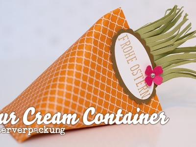 Sour Cream Container - Verpackung Karotte - Stampin' Up!