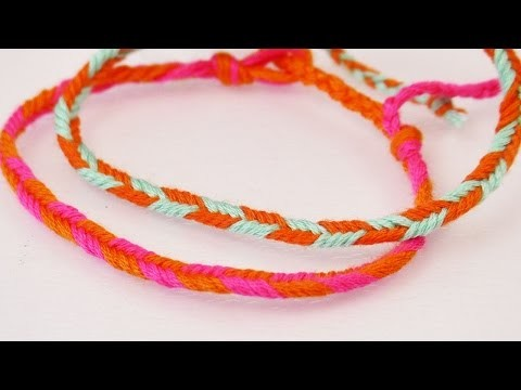 DIY Armband mit Pfeilmuster | Einfaches Fischgrät-Armband selber machen | Freundschaftsarmband