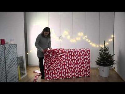 DIY: Großes Geschenk weihnachtlich verpacken