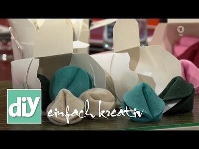 Glückskekse aus Filz zu Silvester | DIY einfach kreativ