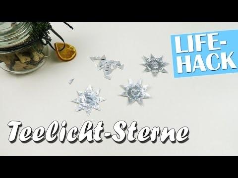 Teelicht Sterne selber machen - Lifehack