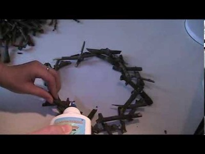 Anleitung - Kranz aus Holz-Ästen basteln Teil 2