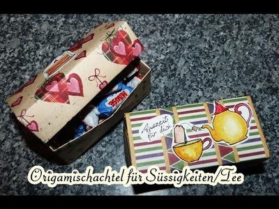 [Tutorial] Geschenkverpackung. Gift-Box für Tee oder Süssigkeiten ect.