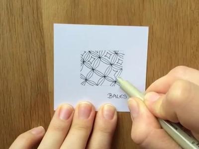 Zentangle® Muster: Bales