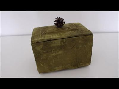 DIY: Schmuckbox Schachtel Kästchen aus Strohseide. Muttertag Geschenk basteln, selber machen