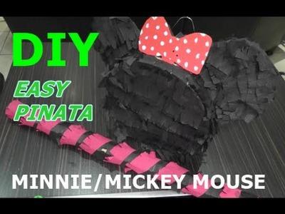 DIY EASY PINATA l Minnie.Mickey Mouse Pinata einfach & schnell l Kindergeburtstag Spiel
