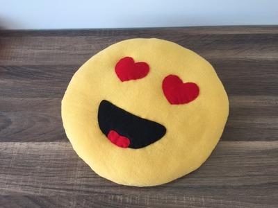 DIY Kissen nähen als Smiley.Emoji, schnelle Bastelidee