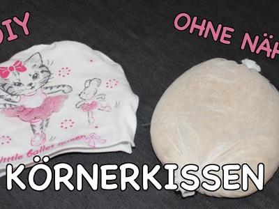 DIY KÖRNERKISSEN OHNE NÄHEN - schnell & kostenlos!!! Wärmekissen für Kinder. TäglichMama