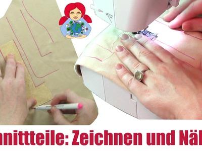 DIY | Waldorfpuppe selber machen: Schnittteile Zeichnen, Nähen und Stopfen | Sami Doll Tutorials