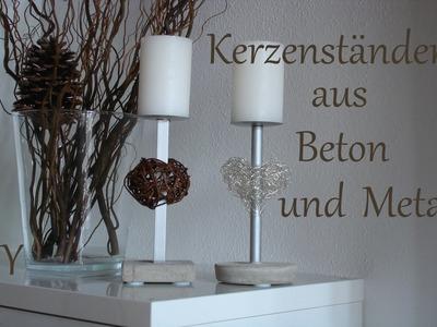 DIY | Kerzenständer aus Beton und Metall | Muttertagsgeschenk | Just Deko